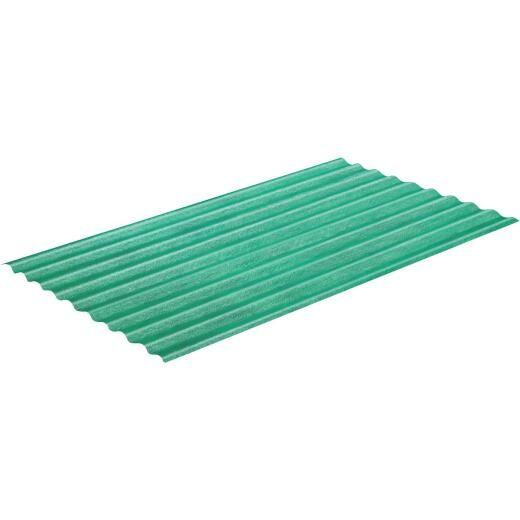 Sequentia WeatherGlaze 26 In. x 8 Ft. Green Round 1-Sided Fiberglass Corrugated Panels