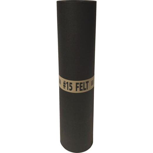 Warrior 36 In. x 144 Ft. Non-Rated 15 lb Roof Felt, Asphalt Saturated