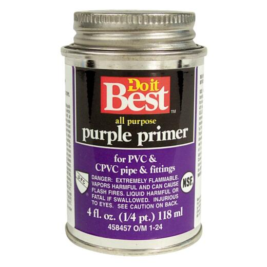 Do it Best 4 Oz. Purple Pipe and Fitting Primer for PVC/CPVC