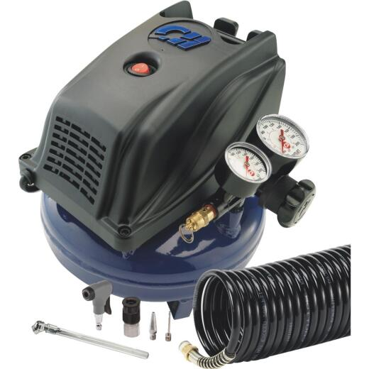 Campbell Hausfeld 1 Gallon Oil-Free Air Compressor with 12-Piece Kit