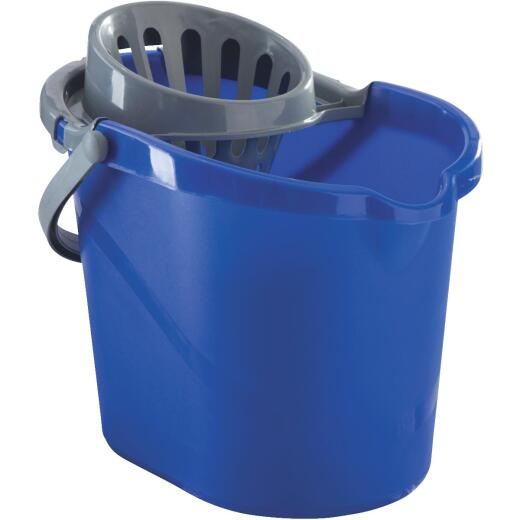 Quickie 15 Qt. Blue Mop Bucket With Wringer