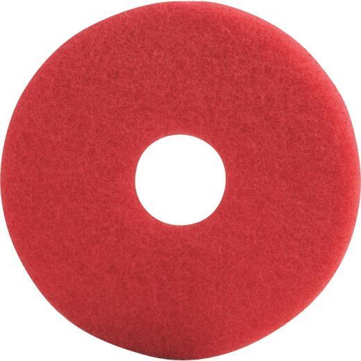 Lundmark 13 In. High Gloss Red Scrub Pad