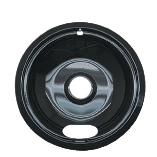 "Range Kleen Electric 8"" Style A Round Black Drip Pan"