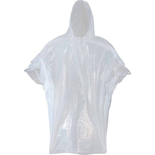 West Chester 50 In. x 80 In. Clear Disposable Rain Poncho