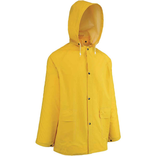 West Chester 2XL Yellow PVC Raincoat