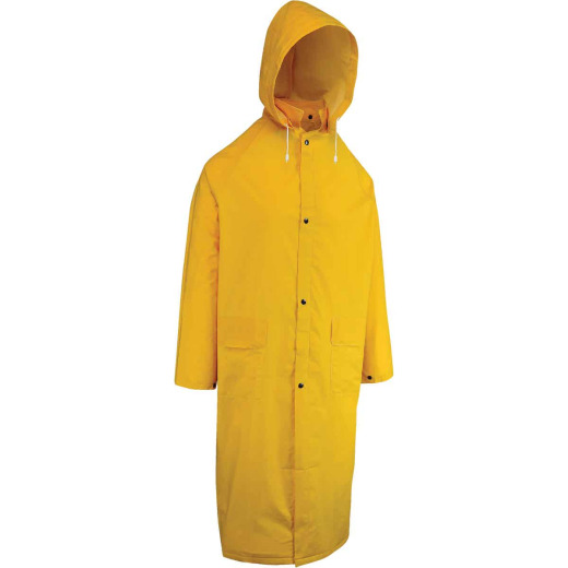 West Chester XL Safety Yellow PVC Trench Coat