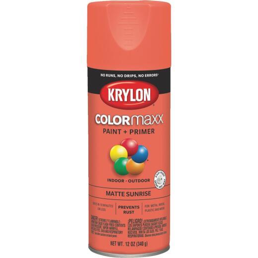 Krylon ColorMaxx 12 Oz. Matte Paint + Primer Spray Paint, Sunrise